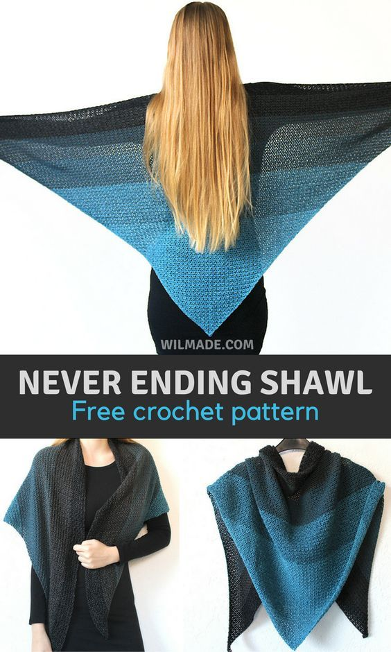 Free Crochet Pattern To Make This Easy Shawl On Wilmade