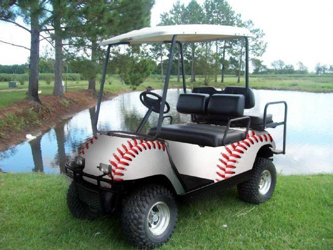 Baseball Golf Cart Wrap Customgolfcarts Golfcartideas
