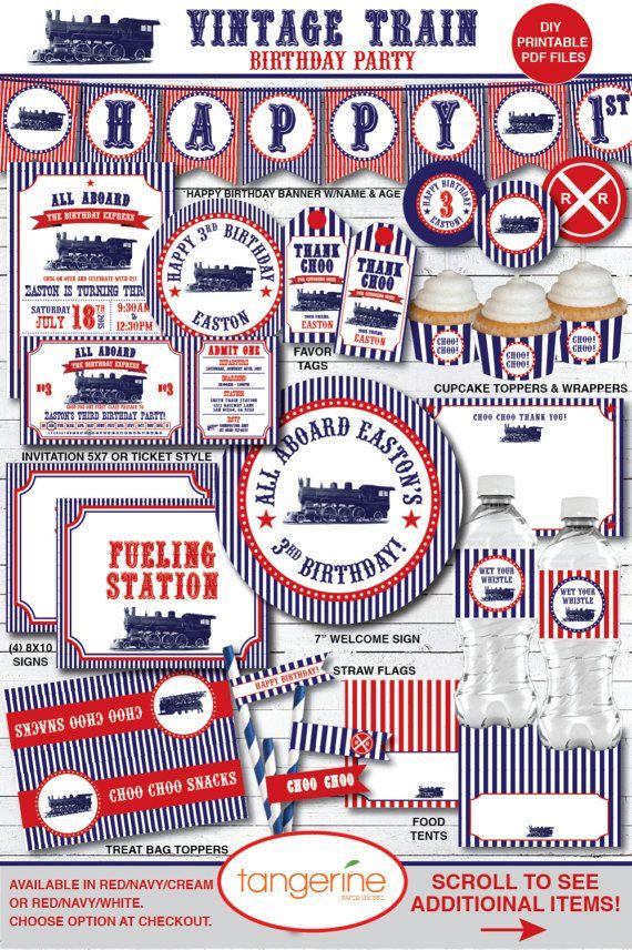 Train Birthday Party Decorations Ideas Vintage Steam