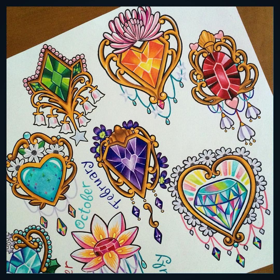 """1,176 synes godt om, 72 kommentarer – @melvin_arizmendi på Instagram: """"🌈💖✨💎🌈💖✨💎 May: Emerald & Lily of the Valley November: Citrine & Chrysanthemum  April: Diamond &…"""""""