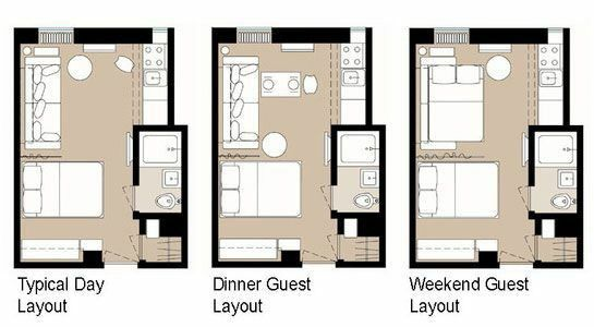 Diffe Layouts For One Room Studio Apartment Layout