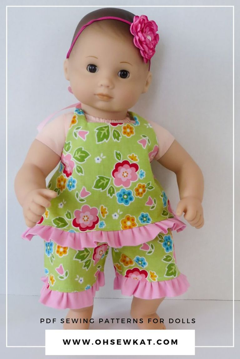 Pin On Baby Doll Clothes Patterns