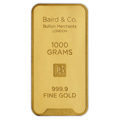Baird Co 1 Kilogram Minted Gold Bar 1kg Gold Bar Uk Bullion Goldinvesting Mint Gold Bullion Gold Bullion