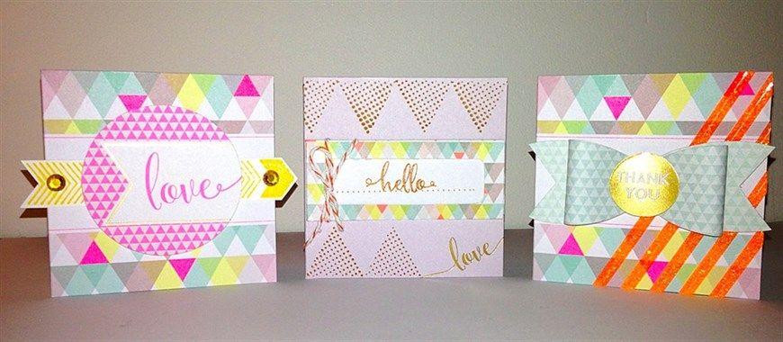 Geometric Neon Mini Cards | docrafts.com