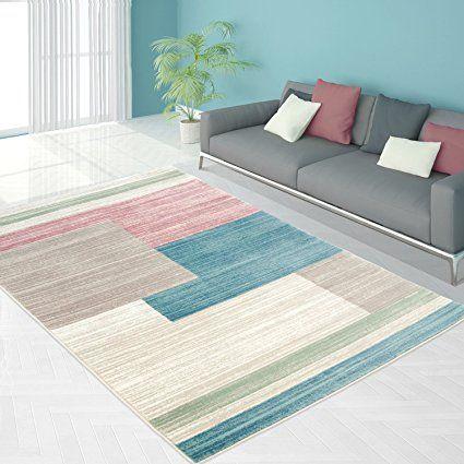 carpetcity Teppich Flachflor in Pastellfarben mit Modernen Design