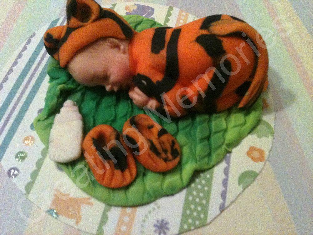 Tiger Baby cake topper