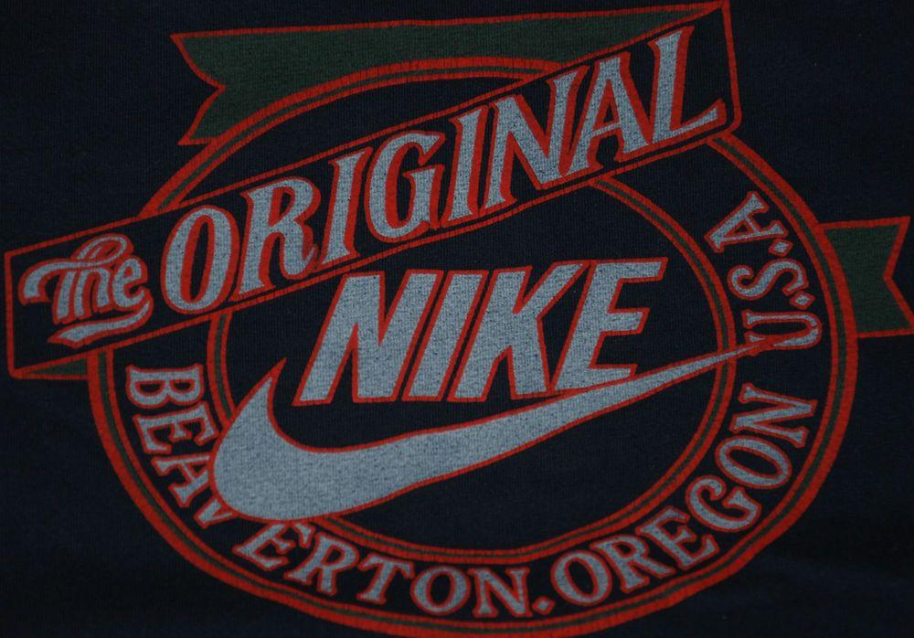 Vintage The Original Nike Beaverton Oregon Sweatshirt Tracksuit Top Blue Red Xl Tracksuit Tops Vintage Outfits Nike
