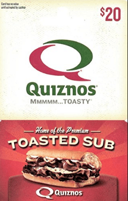 Quiznos Gift Card Balance – Quiznos is a chain of fast food restaurants that offers toasted
