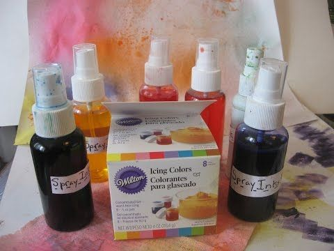 How to make DIY/ Homemade Spray inks(with Wilton Gel Food Coloring ...