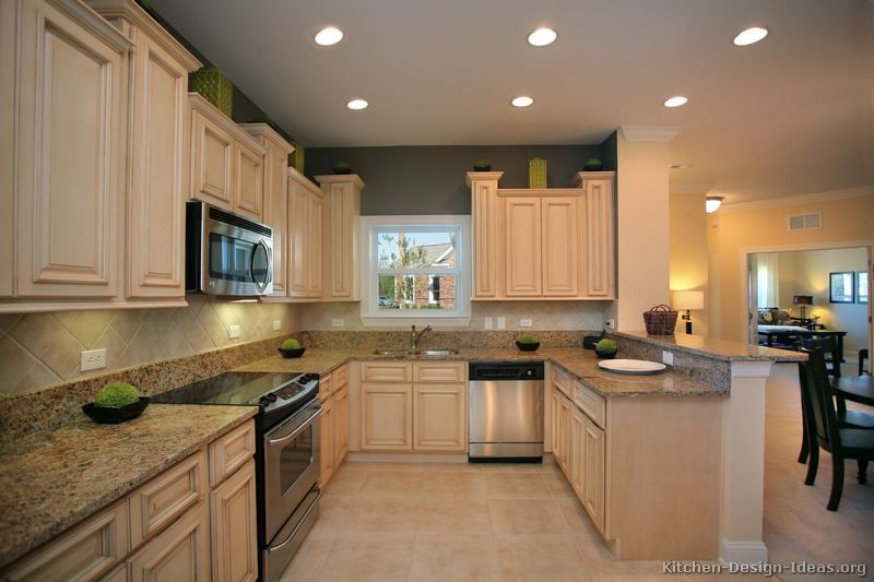 Just Like The Background Paint Color To Possibly Go With Antique White Cabinets Antique White Kitchen Kitchen Design Antique White Kitchen Cabinets