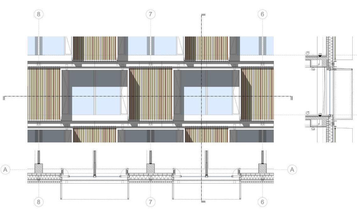 Elevation Plan Details : Facade detail sec elevation… samples for