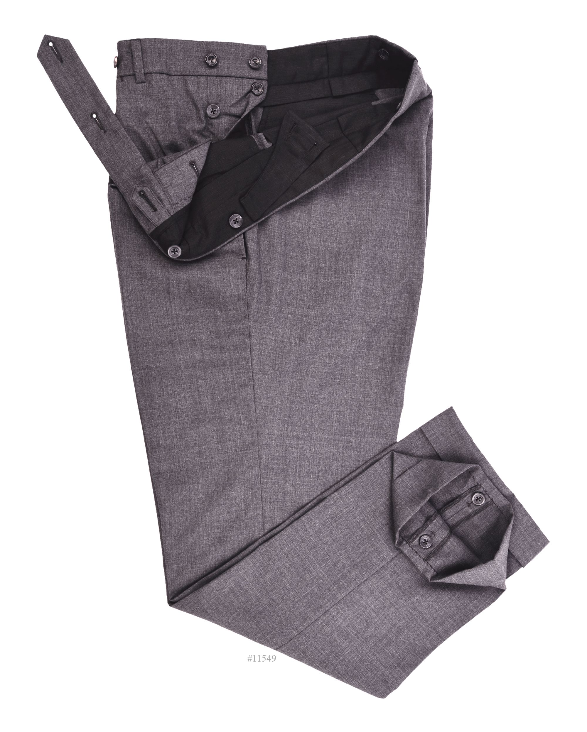 Luxire dress pants constructed in Vitale Barberis Canonico - 120s 2 Ply Dark Grey: http://luxire.com/products/vbc-vitale-barberis-canonico-120s-2-ply-dark-grey-vbc_840_601_5730  Consists of extra long extended closure with elastic adjusting waistband and button fly style.
