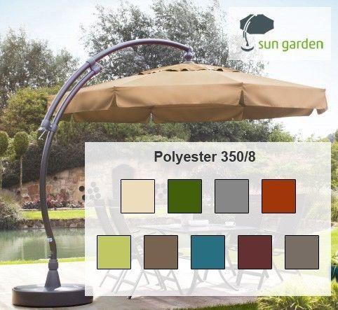 details about sun garden easy sun parasol ersatzbezug 350 8 polyester gratis ersatzschrauben. Black Bedroom Furniture Sets. Home Design Ideas