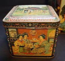 Antike Tee Blechdose 2 Blechdosen Antike Teedosen