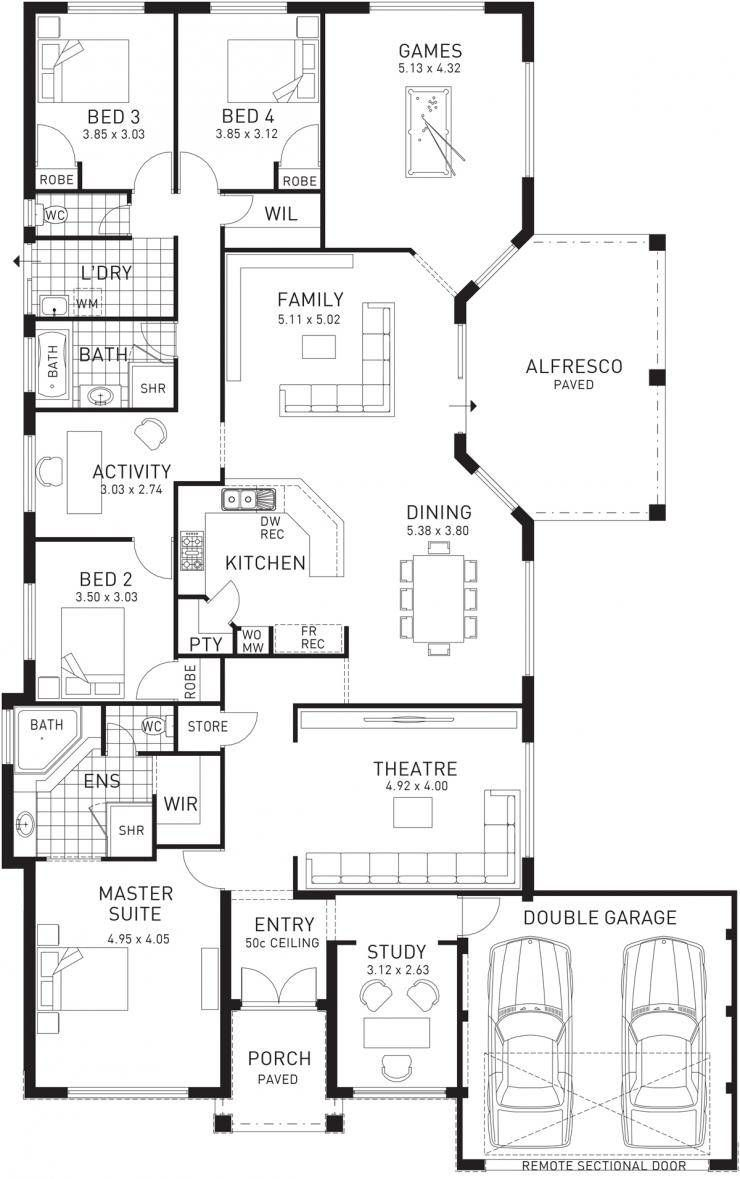 Imperial single storey floor plan wa double house open living also intirears pinterest rh