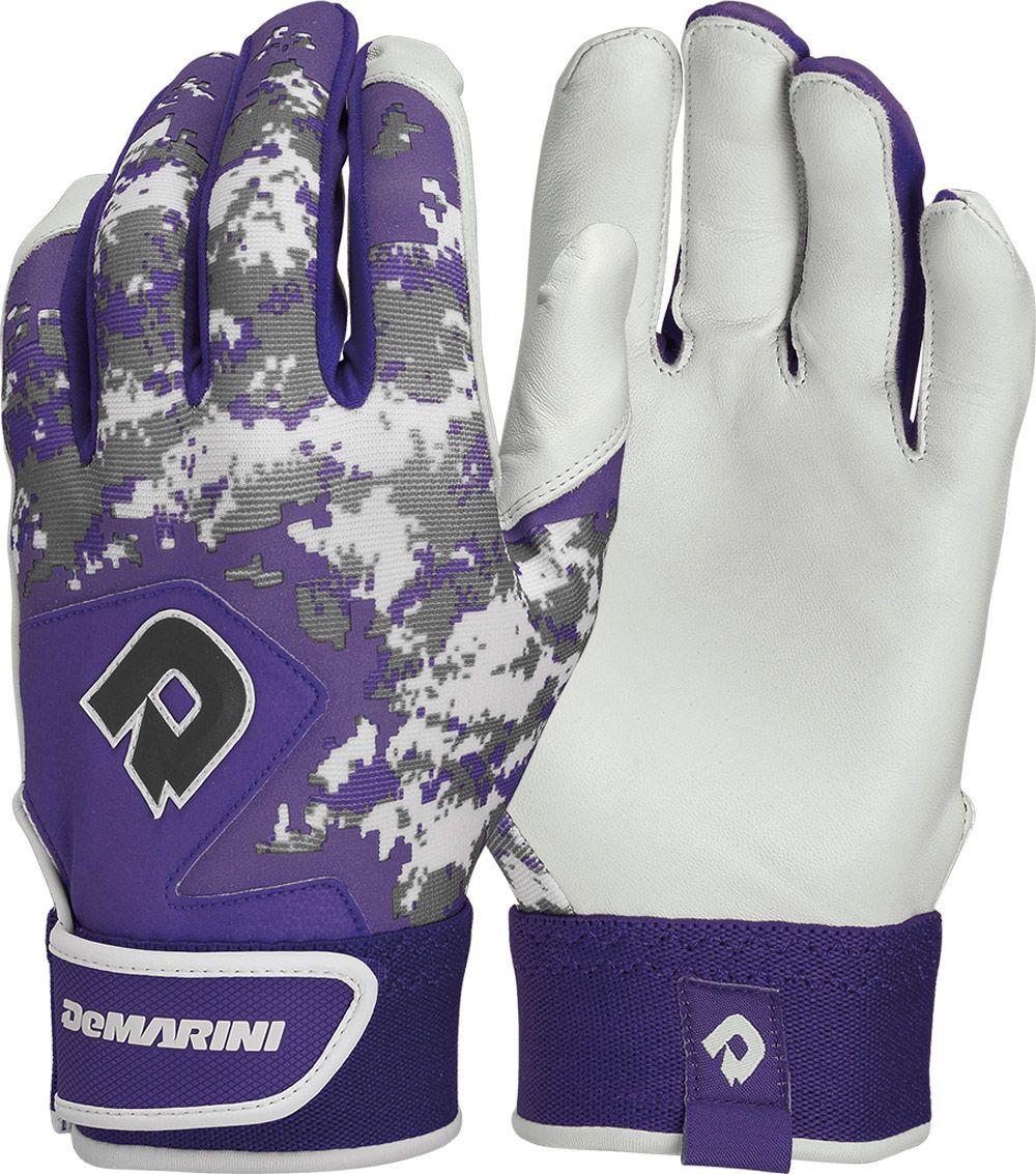 Demarini youth digi camo ii batting gloves purple