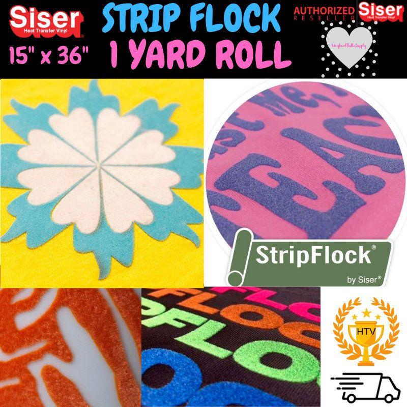 Siser Strip Flock Htv 15 X 1 Yard Siser Stripflock Etsy Vinyl Rolls Heat Transfer Vinyl Siser Easyweed