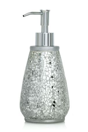 silver crackle bathroom accessories. Crackle glass soap dispenser  Our new humble abode Pinterest