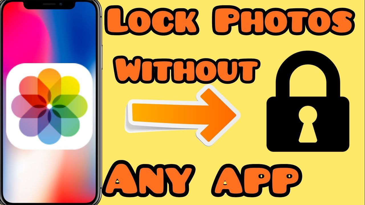 How to lock photos in iPhone How to lock photos in