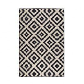 tapis noir blanc losange ruta 1 inspiration. Black Bedroom Furniture Sets. Home Design Ideas