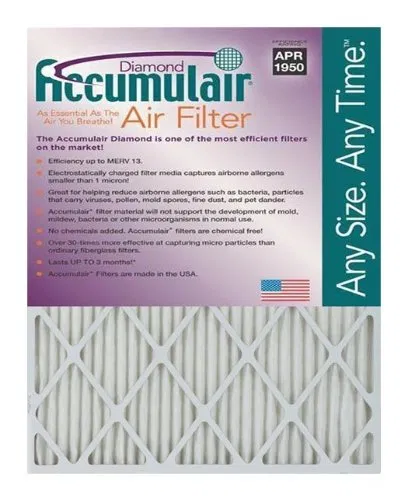 Accumulair Diamond 30x30x1 (Actual Size) MERV 13 Air
