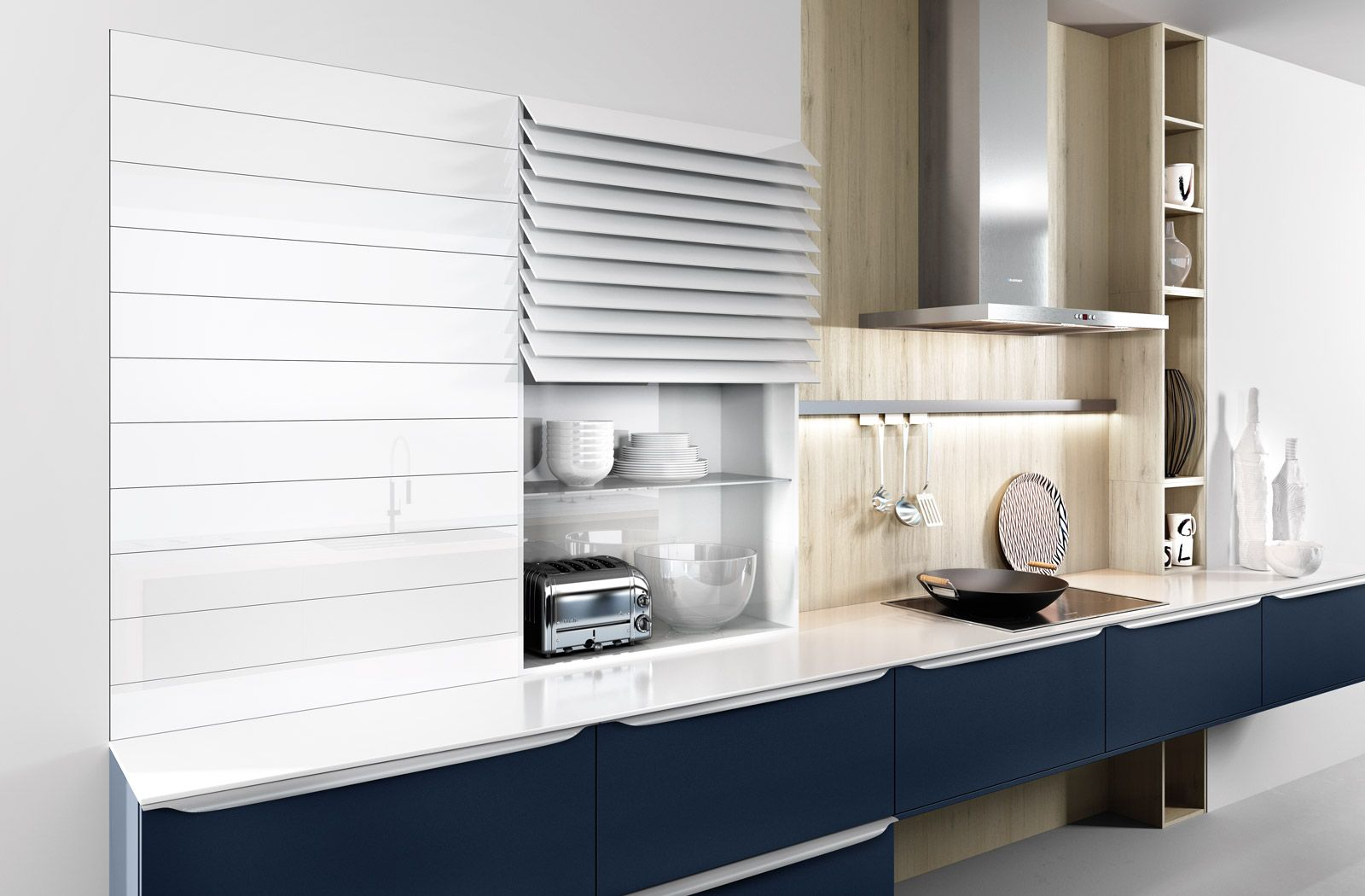 6000 Velvet Blue Lacquer Hacker Kuchen Hacker Kuchen Kitchen Design Small Kitchen Design Small Kitchen Decor