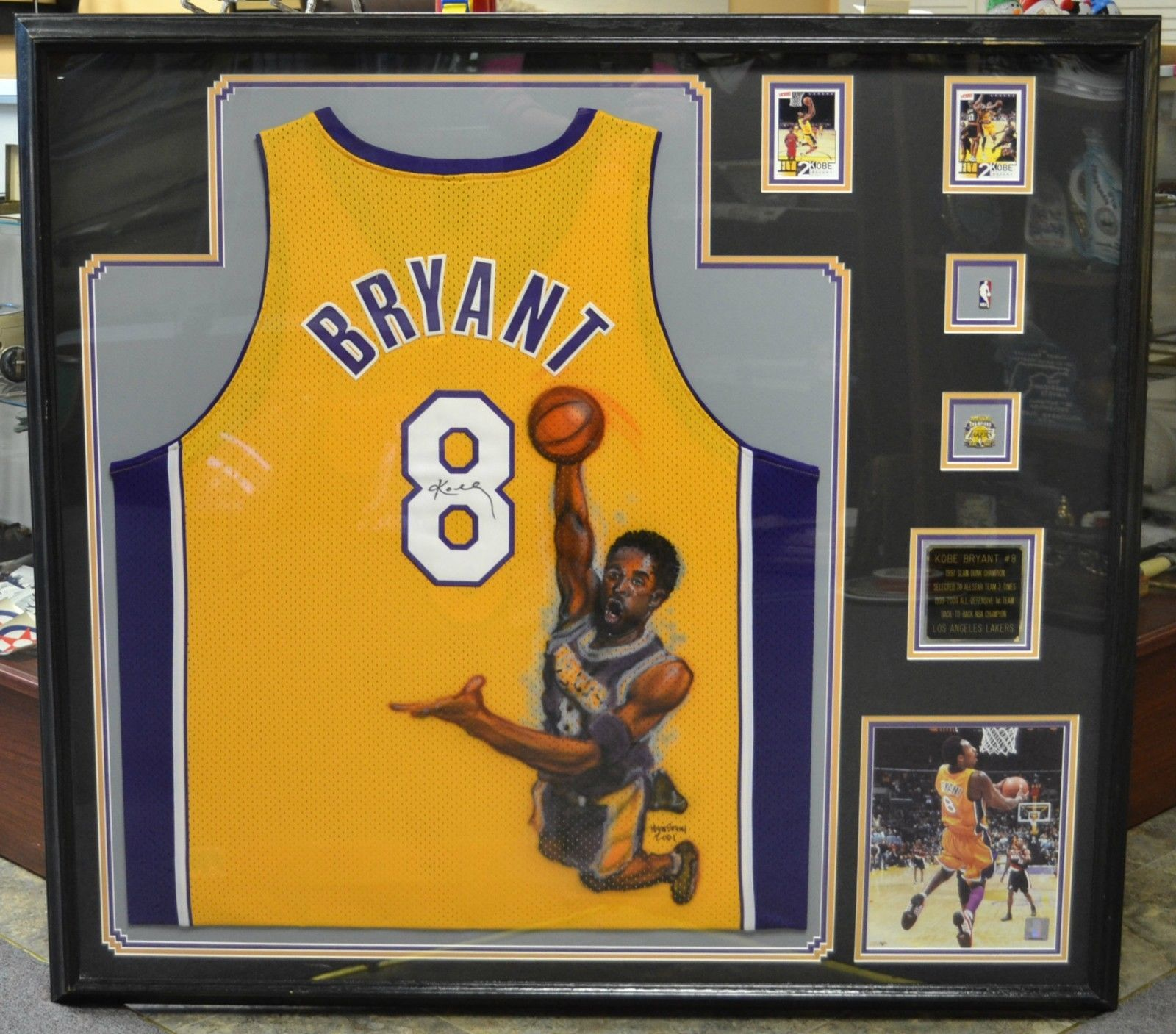 Authentic Signed Kobe Bryant Deluxe Framed Los Angeles