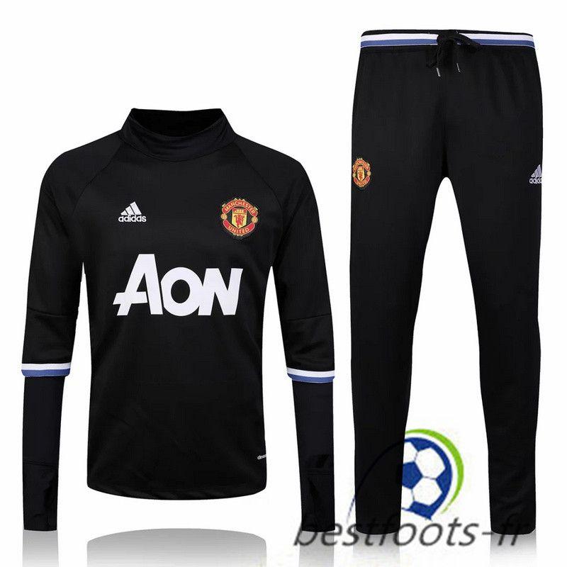 Le Survetement de foot Manchester United Noir 2016 2017