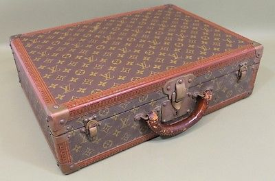 Small Vintage Authentic 1970s LOUIS VUITTON Alzer Suitcase or Briefcase, NR