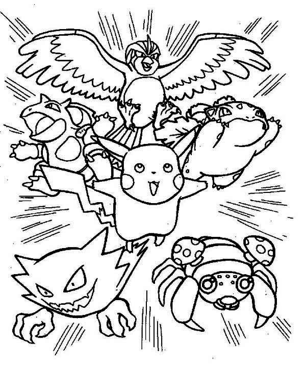 pokemon coloring pages pikachu and ash Google Search good