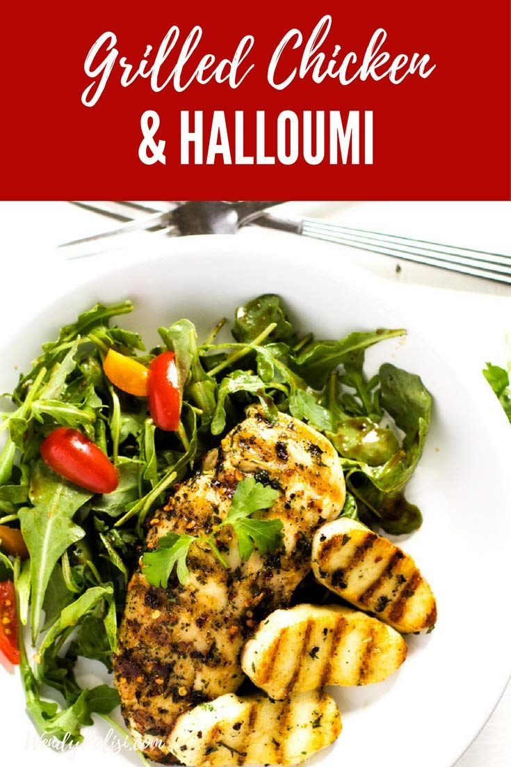 Chicken And Halloumi Salad With Arugula Wendy Polisi Recipe Chicken And Halloumi Salad Recipes Low Carb Healthy Chicken Recipes