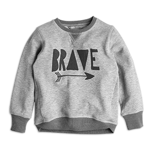 Be brave in our organic cotton sweatshirt. Perfect for an adventure or when it's just a little bit chilly.   - Print to front and back - Ribbing at neck, sleeves and hem - Bottom hem with overlapping sides - Slightly longer at the back - Soft, organic cotton quality  Machine wash 40° Materials:100% Cotton Item code:7271853 Supplier GOTS lic.no 81474