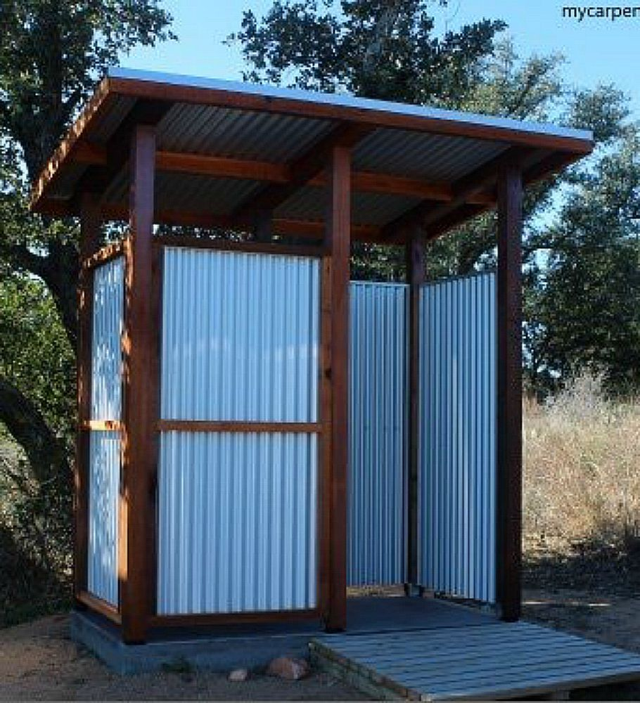 Outdoor shower stall - A Guide to Building and Outdoor Shower ...