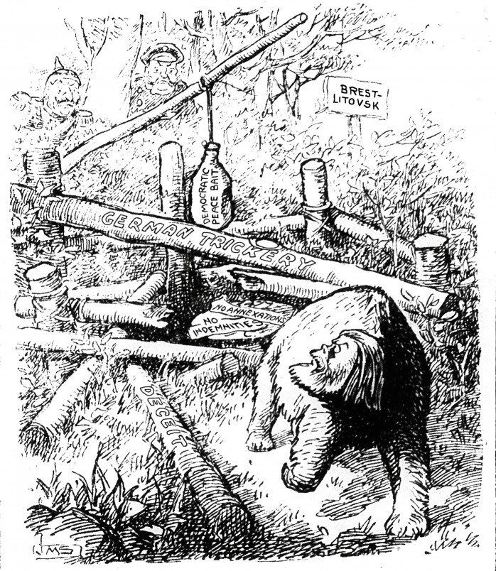 """Patrick Chovanec on Twitter: """"Jan 5, 1918 - Western Mail: Russians aren't falling for the Germans' peace trap #100yearsago https://t.co/ZdKnlcliqP"""""""