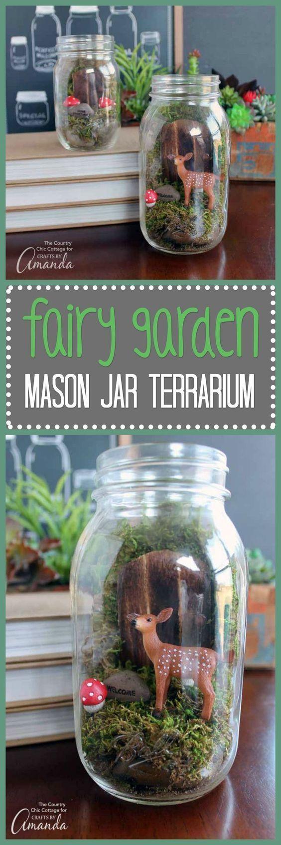 Fairy Garden Mason Jar Terrarium Fairygardening Sams First