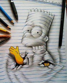 Este Artista De 16 Anos Es Capaz De Dar Vida A Los Dibujos En Su Cuaderno Como Dibujar En 3d Dibujos 3d Mejor Dibujo