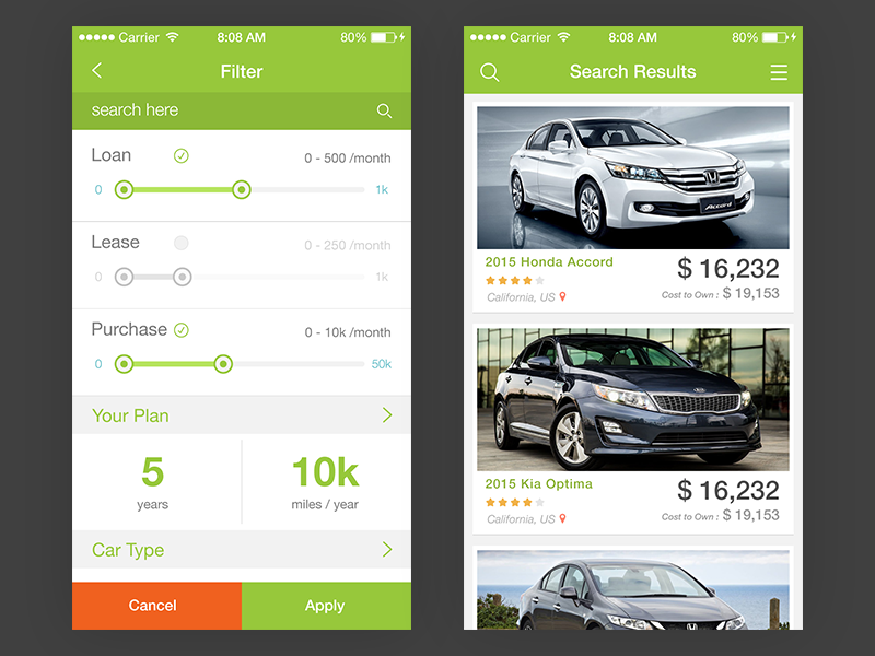 Car Shopping App >> Pin On Mobile Ui Examples