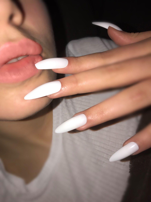 #AcrylicNailsSquoval | Acrylic nails stiletto, Long ...