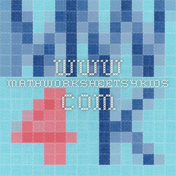 www.mathworksheets4kids.com   math worksheet makers   Pinterest ...