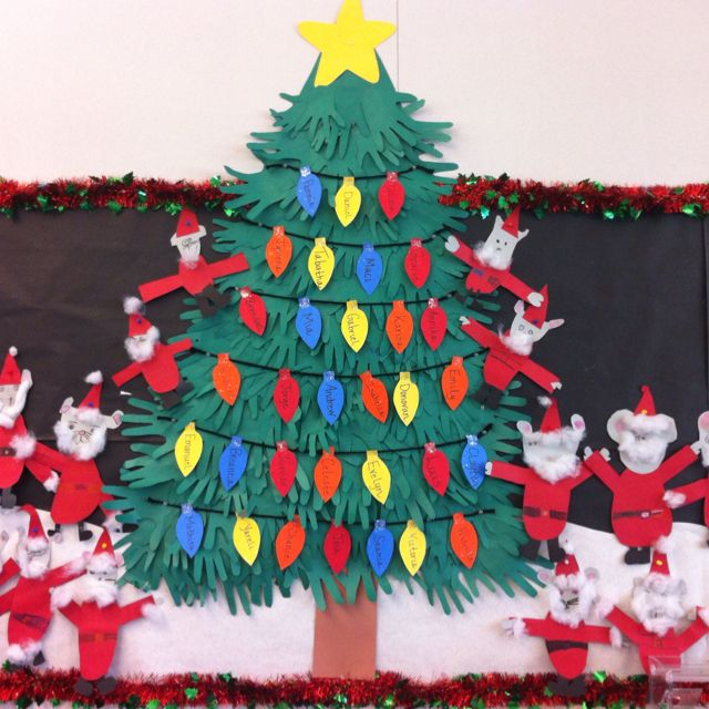 Holiday Family Hand Tree. The Students Took Home Green
