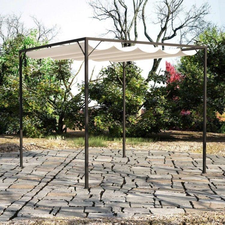 Outdoor Garden Gazebo Metal Frame Sunshade Canopy Awning