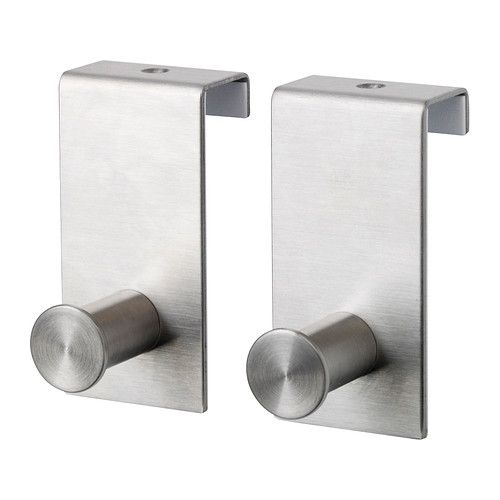 Grundtal Hook For Door Ikea Can Be Hung Over The Top Edge Of More Storage E Covered Back Protects From Scratches