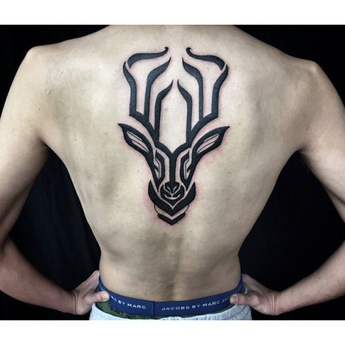 Placement is Key. #hanumantra #blackwork #tattoo #un1ty ...