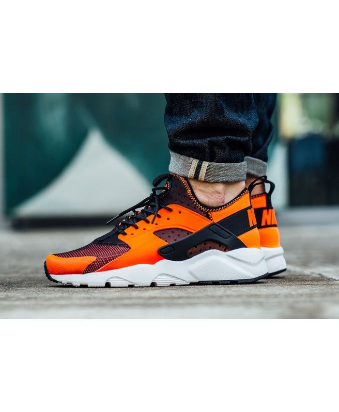 4fe1d984bb39 Chaussure Homme Nike Air Huarache Ultra Orange Crimson Noir ...