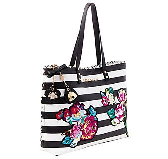 MANY BLOOMS AGO TOTE: Betsey Johnson