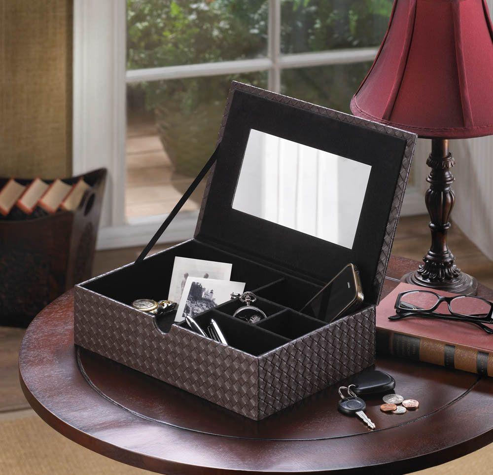 Faux leather keepsake box etsy in 2020 wood jewelry