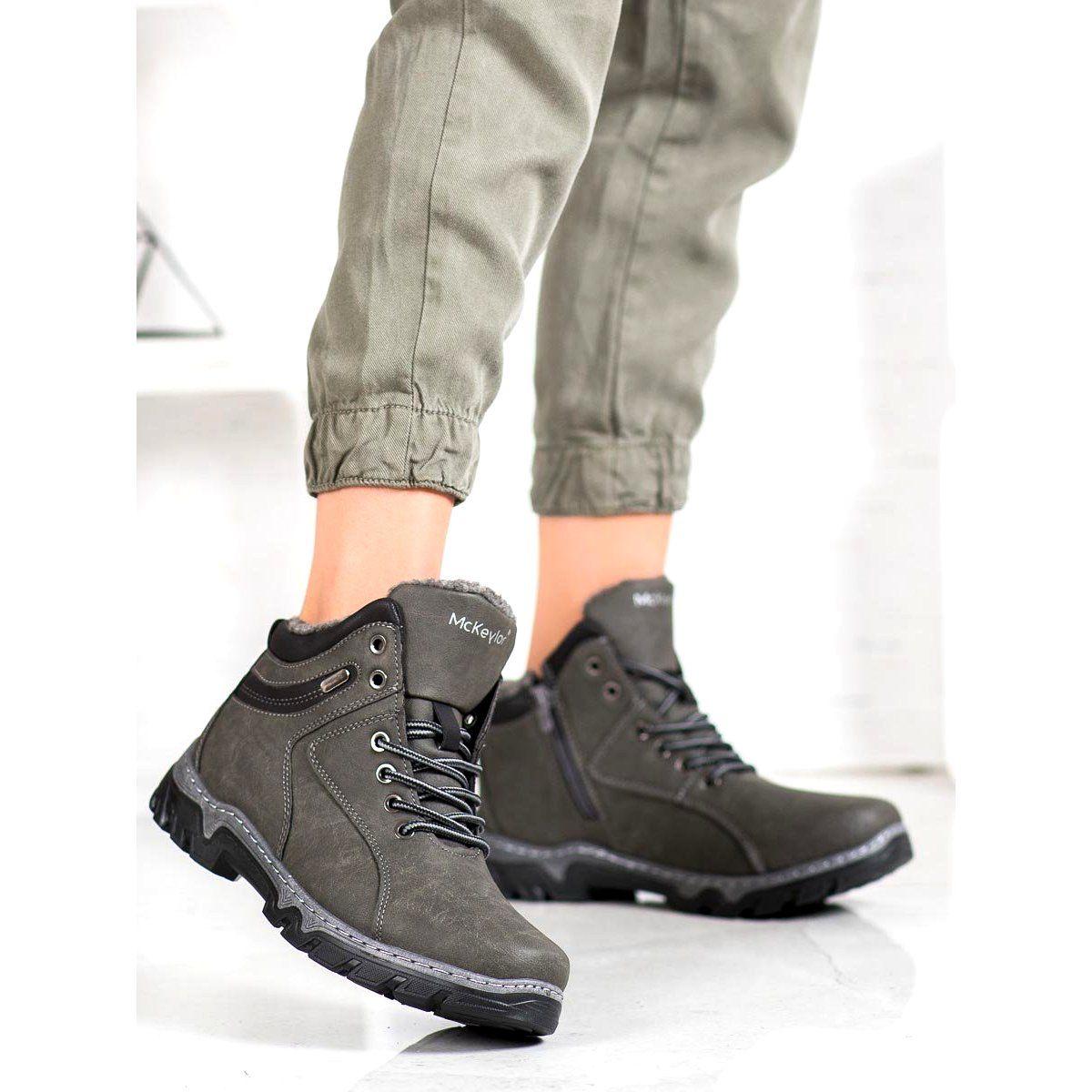 Trekkingowe Damskie Mckeylor Ocieplane Buty Mckeylor Szare All Black Sneakers Sneakers Shoes