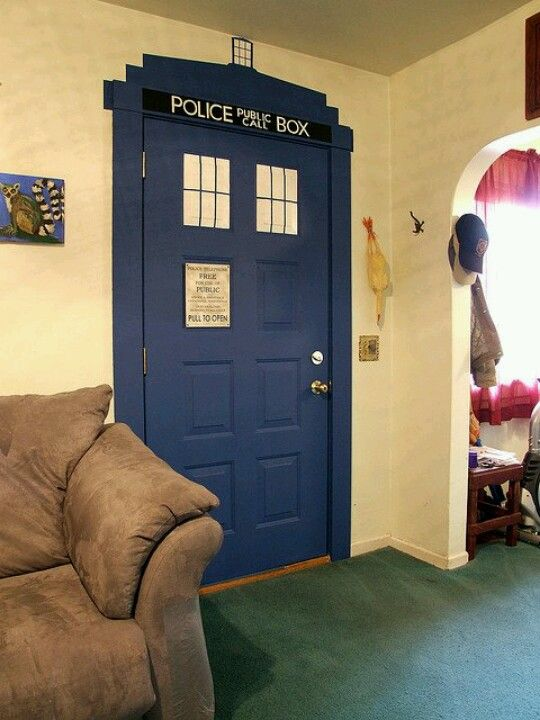 Dr. Who door- inside of Ella's nook door or outside!?!