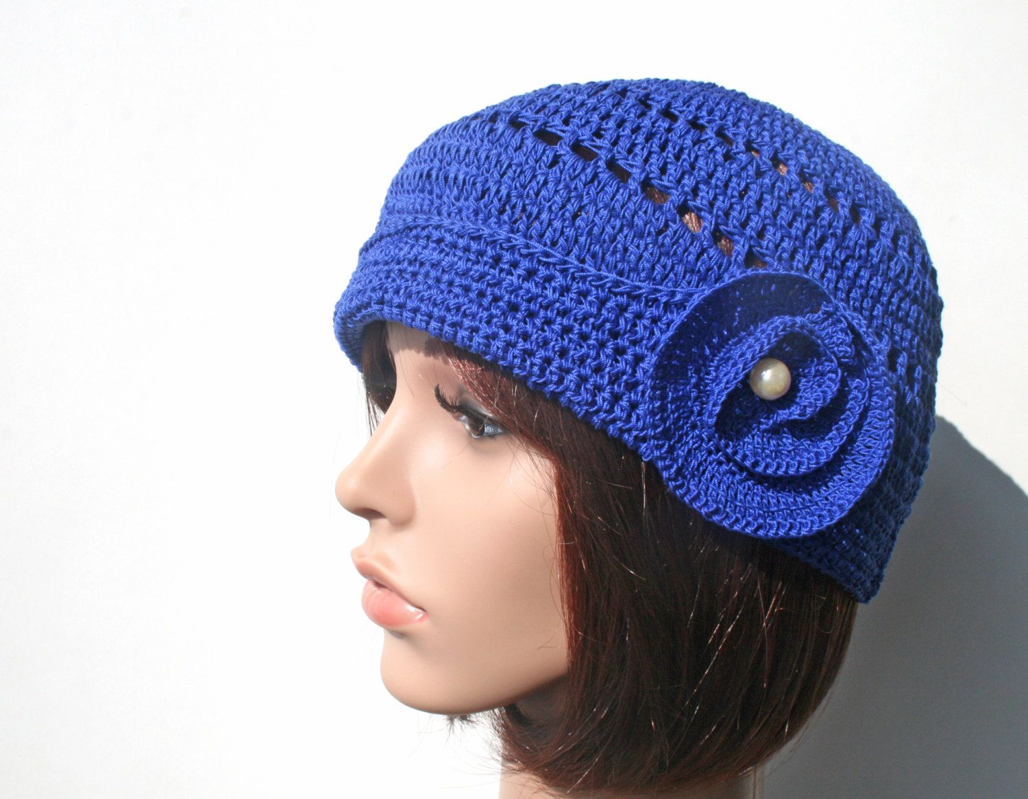 Crochet cotton Twenties inspiration Hat  Only by KazamarieDesigns, €33.00