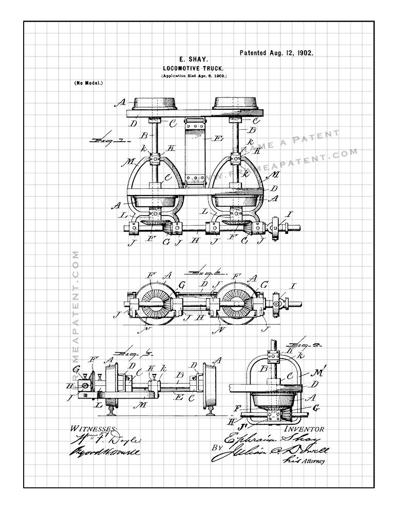 Pin By Frame A Patent On Train Patent Prints In 2019